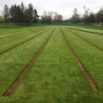 fairway drainage process at Butler National Golf Course