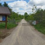 hiking trail map and gate at Caledon Trailway