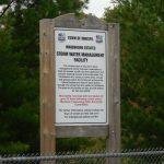 innisbrook estates storm water management facility sign