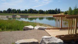 beginning of bridge at guelph lake