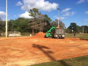 construction for tamarac ball fields