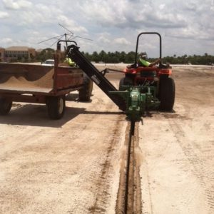 digging machine at Mirasol