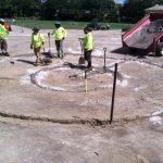 Digging patterns for drainage at Mirasol