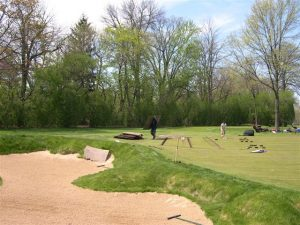 Bunker and green drainage installed at Merion