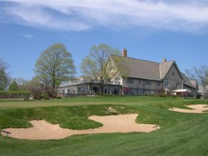 Merion golf club with bunkers