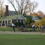 installation of new greenery at Oakmont